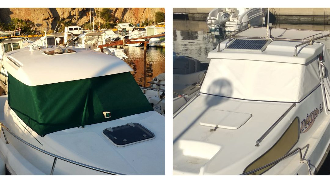 Lona de cristales para proteger y dar confort a tu barco