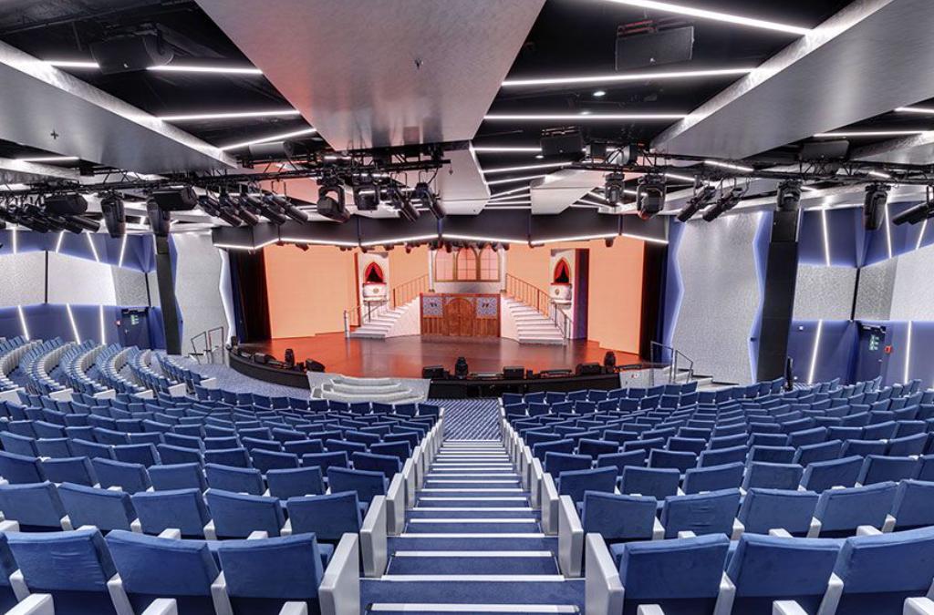 Tapicería para teatros y servicios audiovisuales